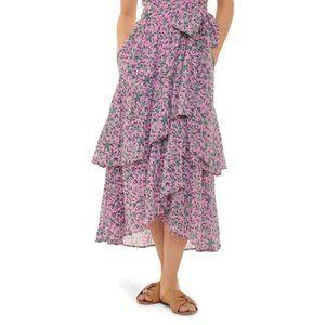 Banjanan Frances Ruffled Wrap Skirt